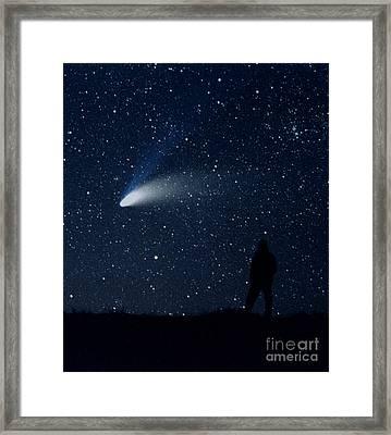Hale-bopp Comet Framed Print by John Chumack