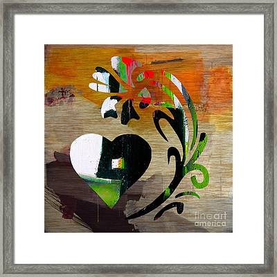 Heart And Flowers Framed Print by Marvin Blaine