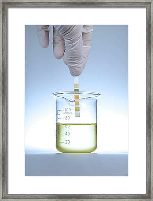 Home Urine Test Framed Print