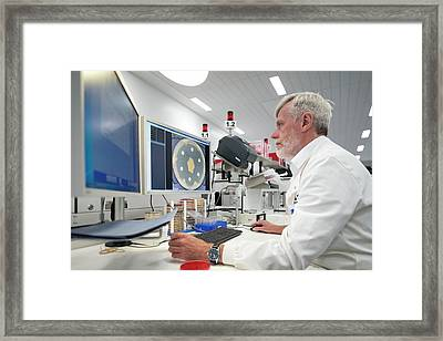 Hospital Pathology Lab Framed Print by Aberration Films Ltd