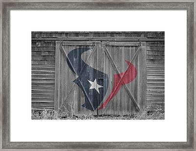 Houston Texans Framed Print by Joe Hamilton