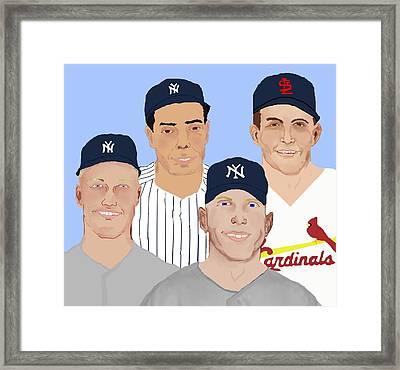 9-inning Legends Framed Print by Pharris Art