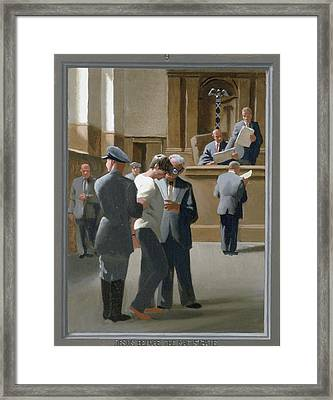 9. Jesus Before The Magistrate / From The Passion Of Christ - A Gay Vision Framed Print by Douglas Blanchard