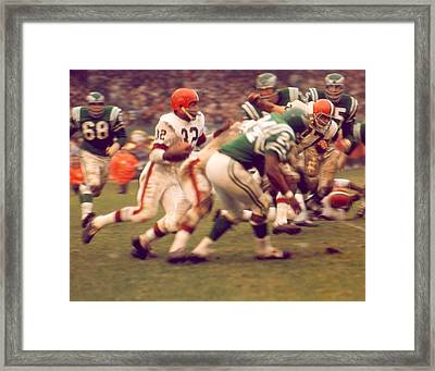 Jim Brown Framed Print by Retro Images Archive