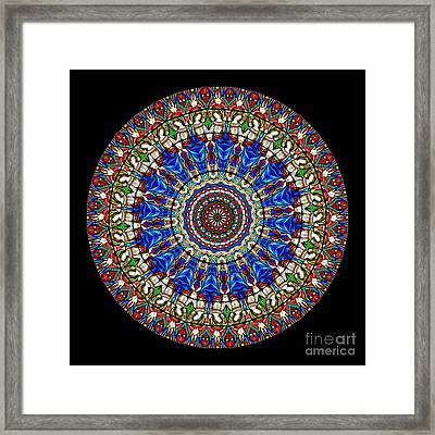 Kaleidoscope Stained Glass Window Series Framed Print by Amy Cicconi