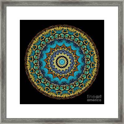 Kaleidoscope Steampunk Series Framed Print