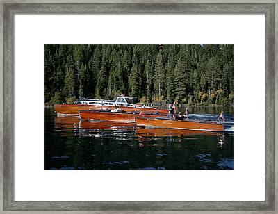 Lake Tahoe Wooden Boats Framed Print by Steven Lapkin