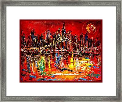Manhattan Framed Print by Mark Kazav