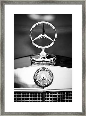 Mercedes-benz Hood Ornament Framed Print by Jill Reger