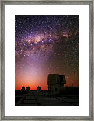 Milky Way Over The Atacama Desert Framed Print by Babak Tafreshi