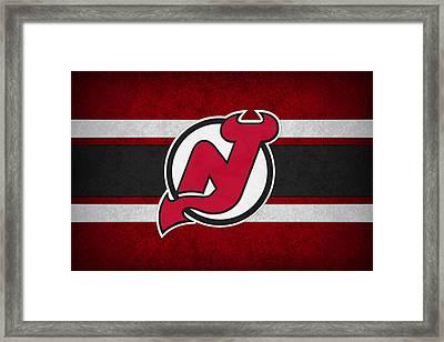 New Jersey Devils Framed Print by Joe Hamilton