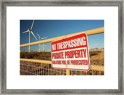 Part Of The Tehachapi Pass Wind Farm Framed Print by Ashley Cooper