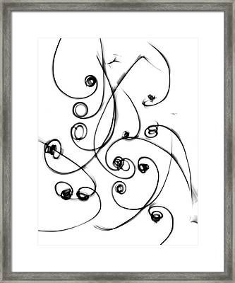 Plant Tendrils Framed Print by Albert Koetsier X-ray