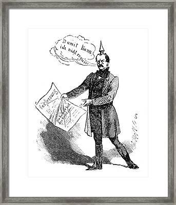 Prince Otto Von Bismarck  Framed Print by Granger