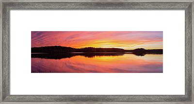 Reflection Of Clouds In A Lake Framed Print by Panoramic Images