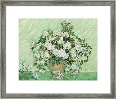 Roses Framed Print by Vincent van Gogh