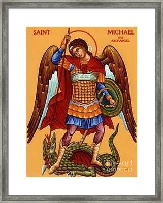 Saint Michael Framed Print by Archangelus Gallery