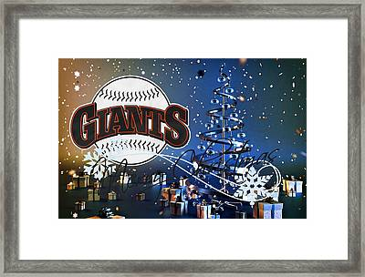 San Francisco Giants Framed Print by Joe Hamilton