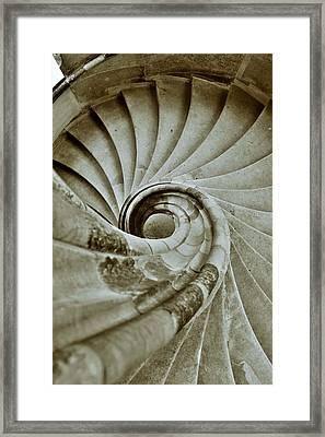 Sand Stone Spiral Staircase Framed Print by Falko Follert