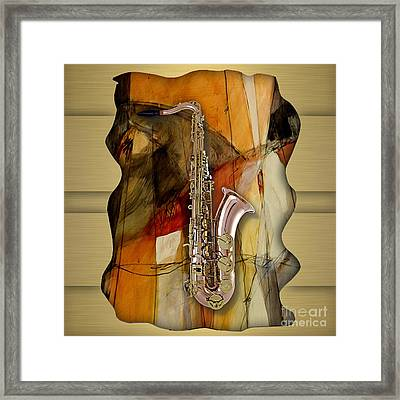 Saxophone Collection Framed Print by Marvin Blaine