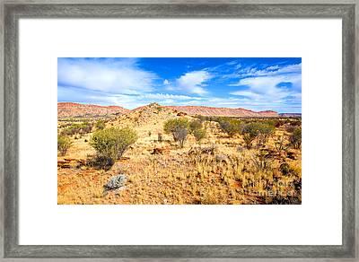 West Mcdonnell Ranges Larapinta Drive Framed Print