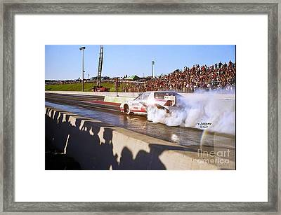Skyview Drags Night Of Fire 2007 Framed Print by Vicki Hopper