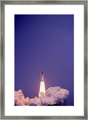 Space Shuttle Challenger  Framed Print by Retro Images Archive