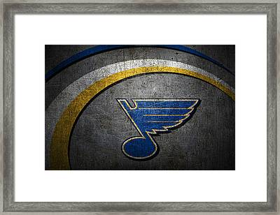 St Louis Blues Framed Print by Joe Hamilton