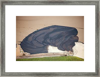 Tailings Pond At The Syncrude Mine Framed Print by Ashley Cooper