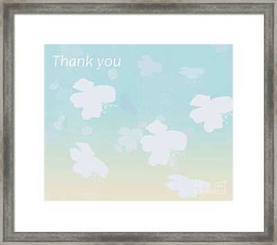 Thank You Framed Print by Trilby Cole