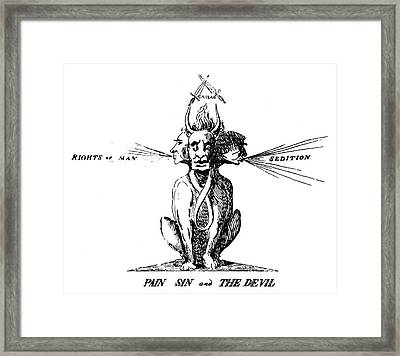 Thomas Paine (1737-1809) Framed Print by Granger