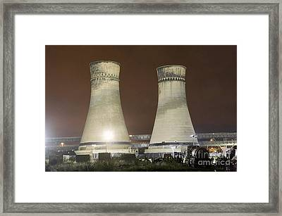 Tinsley Cooling Towers Demolition Framed Print by Mark Sykes