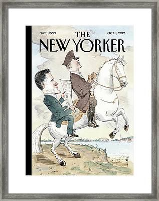 New Yorker October 1st, 2012 Framed Print by Barry Blitt