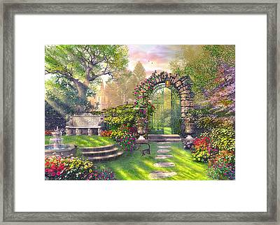 The Garden Gates Framed Print by Dominic Davison