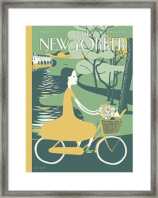 New Yorker May 4th, 2015 Framed Print by Frank Viva