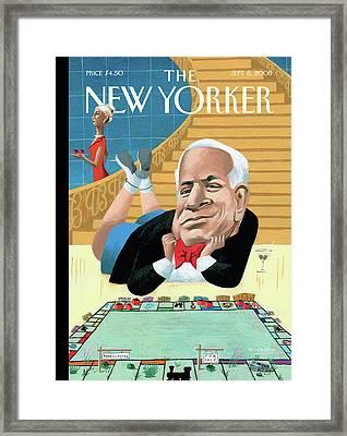 New Yorker September 8th, 2008 Framed Print by Mark Ulriksen