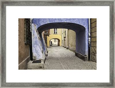 Warsaw Old Town. Framed Print
