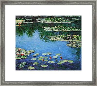 Framed Print featuring the painting Water Lilies  by Claude Monet