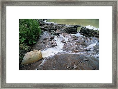 Water Pollution Framed Print by Robert Brook/science Photo Library