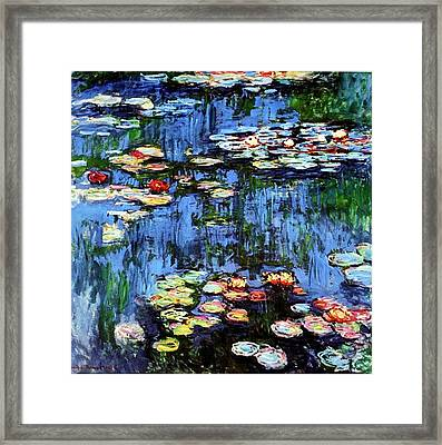 Framed Print featuring the painting Waterlilies  by Claude Monet