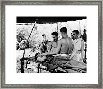 Framed Print featuring the photograph World War II New Guinea by Granger
