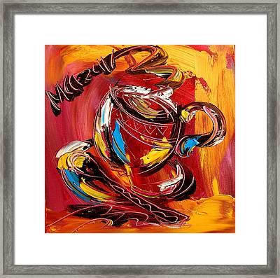 Coffee Framed Print by Mark Kazav