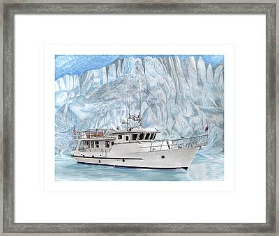 Its Cold As Ice Its Paridise Framed Print