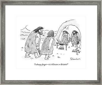 I Always Forget - Is It Kirsten Or Kristin? Framed Print
