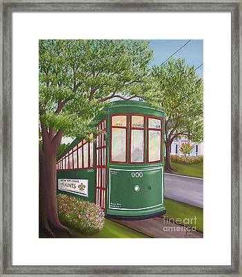 900 On The Avenue Framed Print