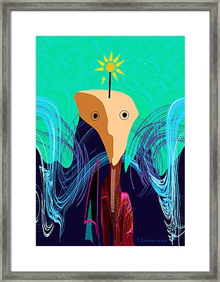 904 -   Stone Face  Framed Print by Irmgard Schoendorf Welch