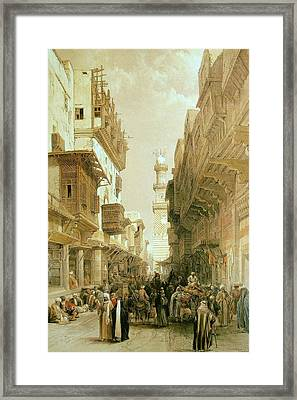 Street Leading To The Mosque Framed Print