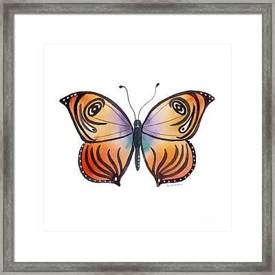 91 Orange Capanea Butterfly Framed Print