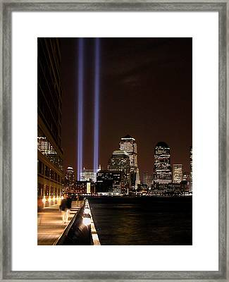 Framed Print featuring the photograph 911 Anniversary by Gary Slawsky