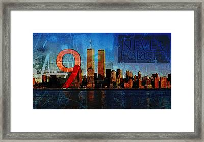 911 Never Forget Framed Print by Anita Burgermeister